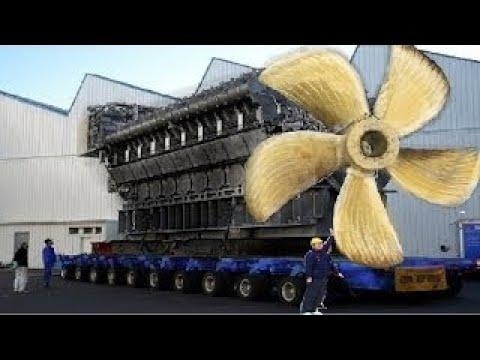 Big Biggest Mega Machines Diesel Engine Industrial, Hypnotic Video Latest Propeller Manufa