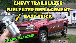 trailblazer fuel filter hack~eazy~ tip replacement. - youtube  youtube