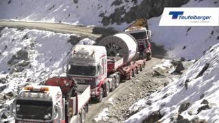 Seiltransport TEUFELBERGER-Tragseile für die 3S Bahn am Stubaier Gletscher, Österreich