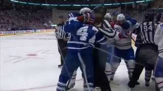 Leo Komarov Late Hit on PK Subban (10/7/15)