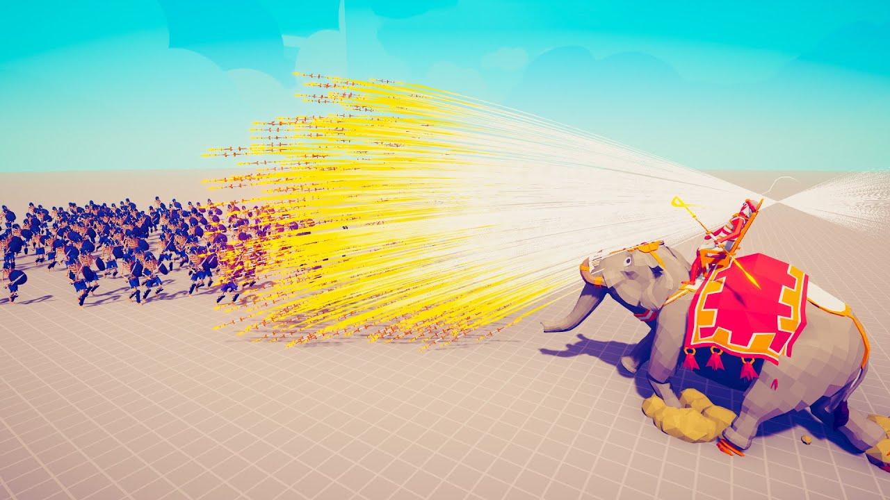 GOD SACRED ELEPHANT vs 100x UNITS 🔥 TABS - Totally Accurate Battle Simulator