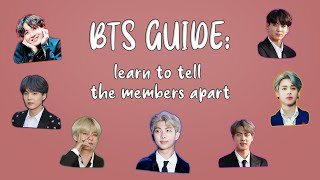 a 2021 BTS GUIDE: learn to tell the members apart