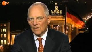 Wolfgang Schäuble ist vom Interview genervt (ZDF)
