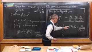Урок 322. Производная сложной функции. Производная тригонометрических функций