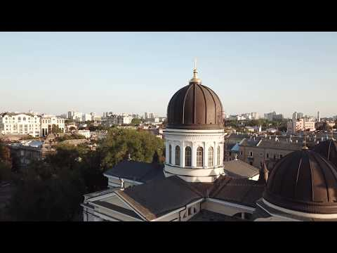 Odessa Transfiguration Cathedral flyby in 4K