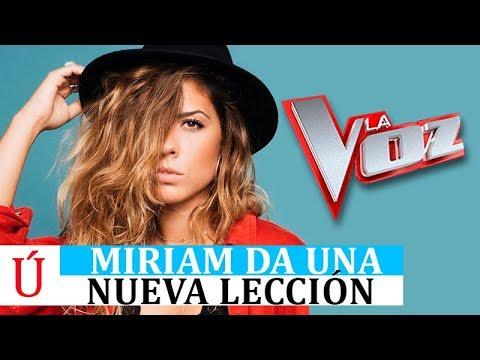 OJO| La nueva lección de Miriam en La Voz con una ex de OT que fue finalista en el casting de OT2017
