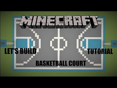 Let 39 s build a basketball court minecraft tutorial youtube for How to build basketball court