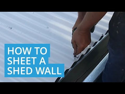 How to Sheet a Corrugated Shed Wall - DIY Roys Sheds