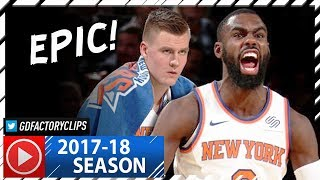 Tim Hardaway Jr. 38 Pts & Kristaps Porzingis 22 Pts Full Highlights vs Raptors (2017.11.22) - EPIC!