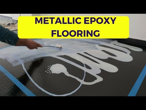 Metallic Epoxy Floor - How to Apply step by step (2018)