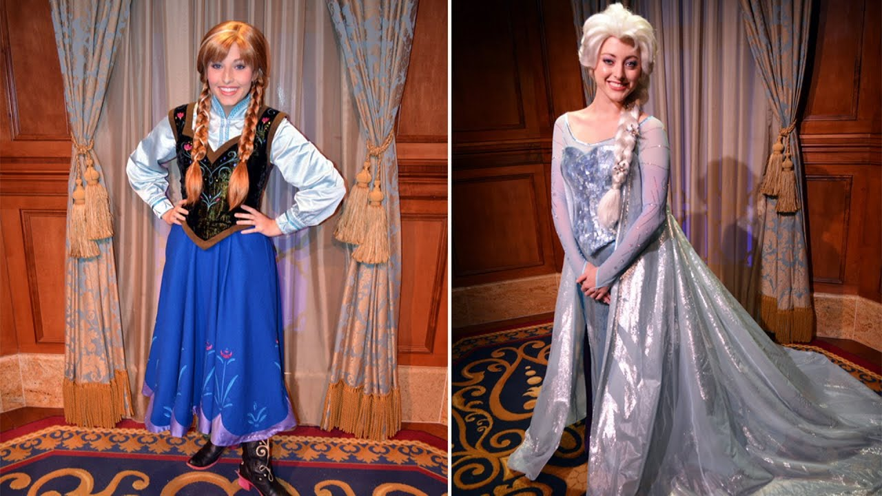 Anna And Elsa Meet Greet Now Visiting Individually W Guests At
