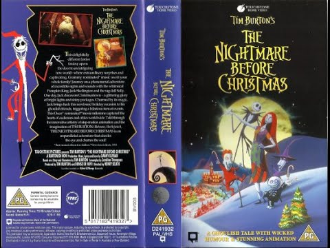 The Nightmare Before Christmas (1995, UK VHS) - YouTube