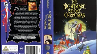 The Nightmare Before Christmas (1995, UK VHS)