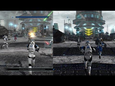 STAR WARS Battlefront 2 HD Remaster Trailer : Before -After Comparison