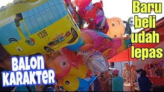 Baru Beli Balon Karakter Udah Dilepas  Balon Gas Tayo