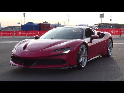 NEW Ferrari SF90 Stradale   Start Up + Driving + Sound + Carporn   Nurburgring