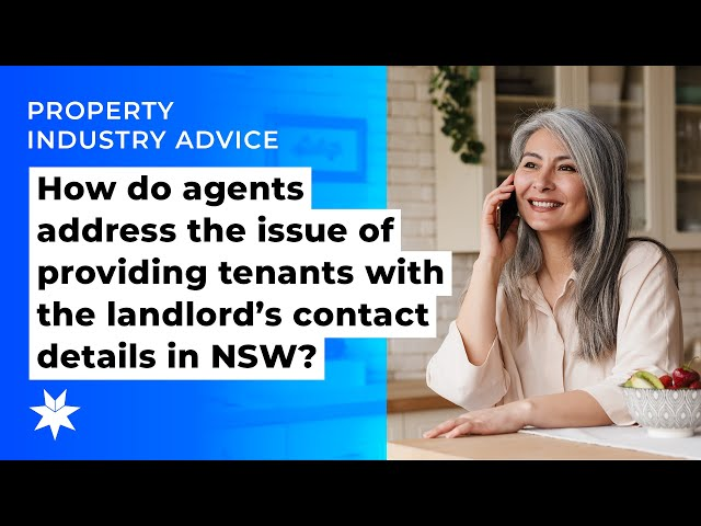 How do agents address the issue of providing tenants with the landlord's contact details in NSW?