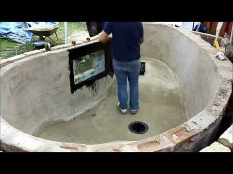 How to build a koi pond part 4 2015 youtube for Making a koi pond
