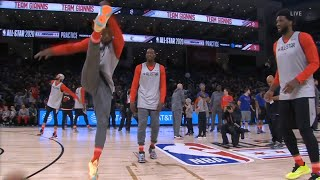 Jimmy Butler, Joel Embiid & Bam Adebayo shows football skills during All-Star Practice