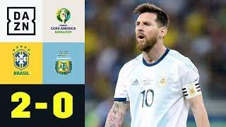 Lionel Messis Titeltraum platzt erneut: Brasilien - Argentinien 2:0 | Copa America | DAZN Highlights