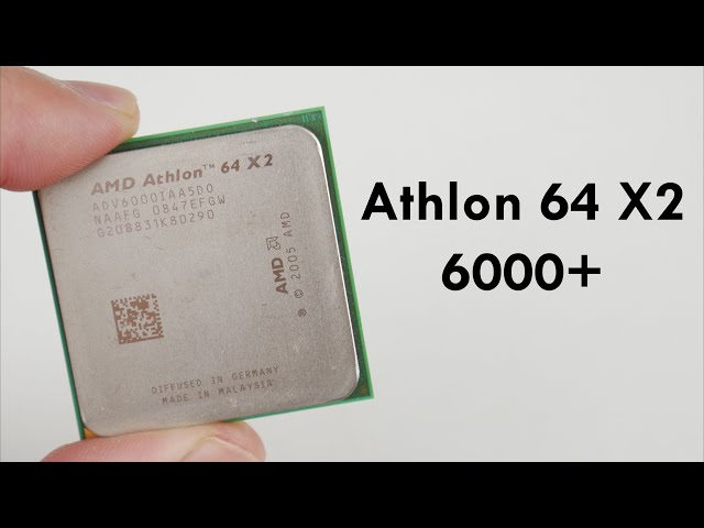 The Amd Athlon 64 X2 6000 From 2008 Youtube