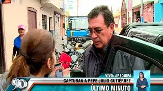 Esto dijo Pepe Julio Gutiérrez minutos antes de ser capturado