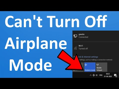 Fix Can T Turn Off Airplane Mode In Windows 10 Youtube