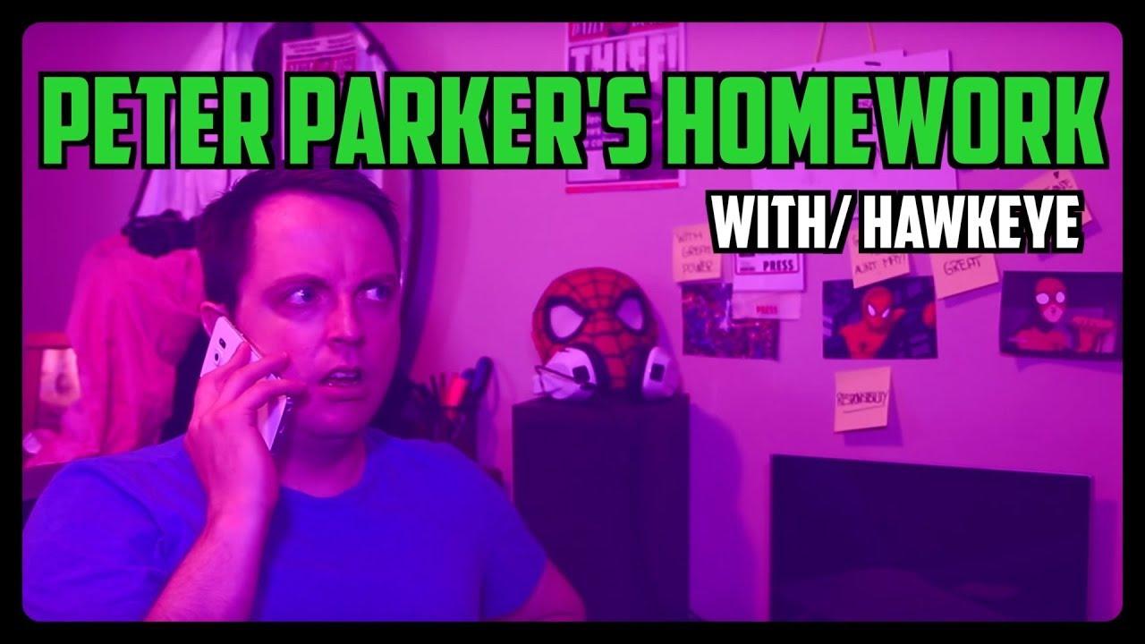 Sketch From Superheroes: Peter's Homework (Hawkeye)