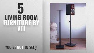 Top 10 Vti Living Room Furniture [2018]: Surround Sound Speaker Stand in Black - Set of 2