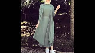 6af1159abf62f مع دخول ربيع 2019 أحدث الفساتين الطويلة للمحجبات لتكوني في غاية الجمال  والرقة- Hijeb style