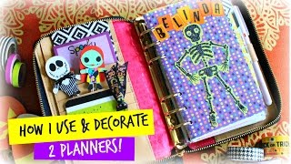 How I Use & Decorate 2 Planners: Halloween Edition| Belinda Selene