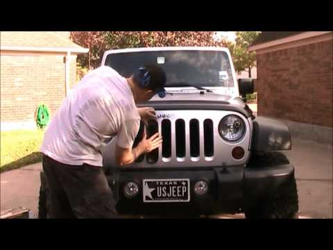 Installing Black Grill Inserts On Jeep Wrangler Youtube