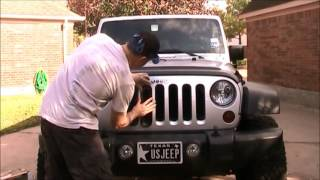 Installing Black Grill Inserts on Jeep Wrangler