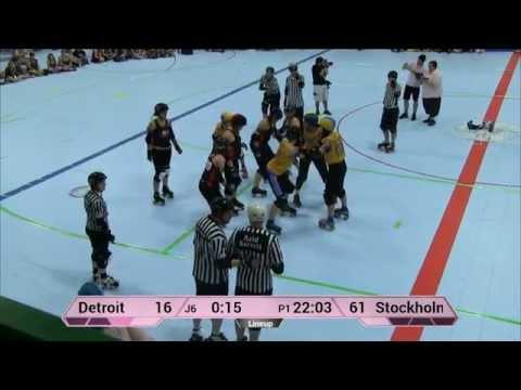 ECDX 2015: Stockholm Roller Derby vs Detroit Derby Girls