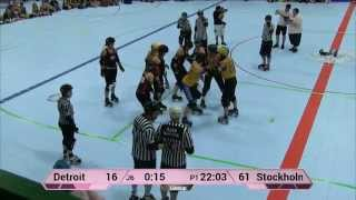 ECDX 2015: Stockholm Roller Derby vs Detroit Derby Girls