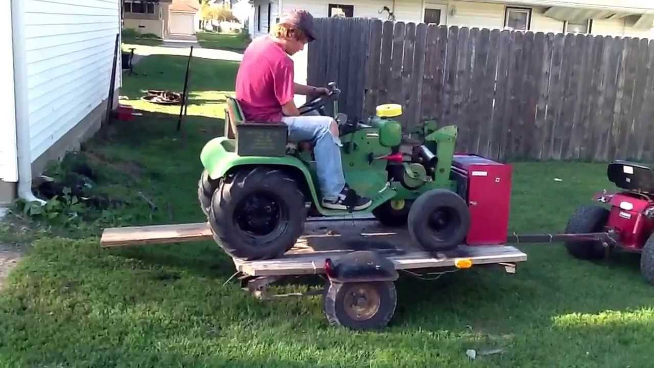 Takin lawn mower off of custom off road lawn mower trailer youtube - Lawn mower for small spaces decor ...
