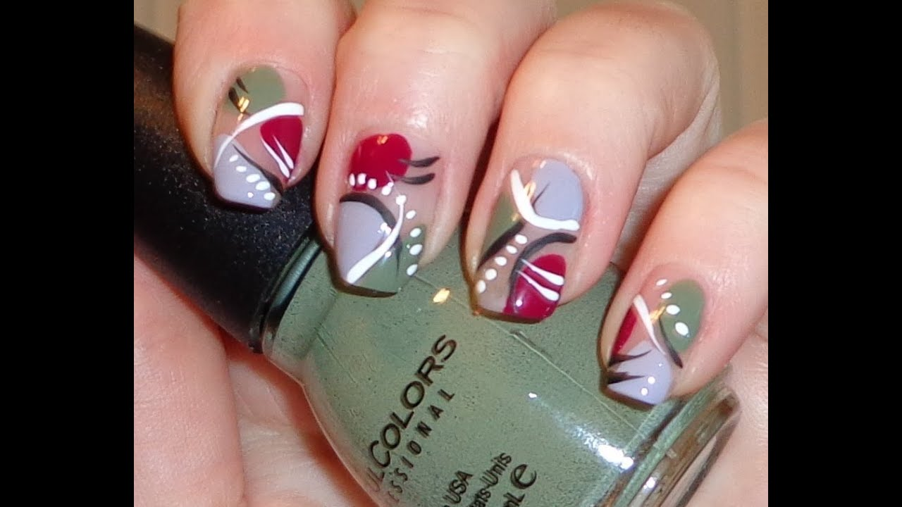 - Easy Abstract Nail Art Design 2013 - YouTube