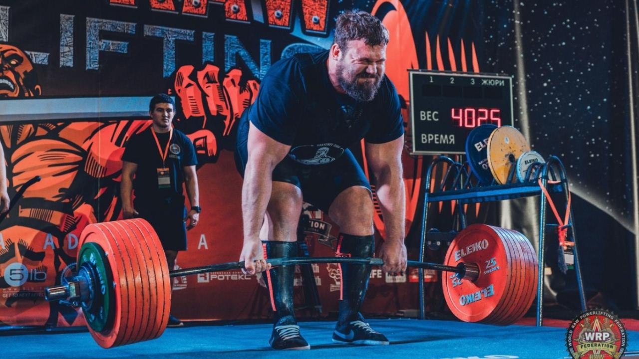 Кирилл Сарычев. Тяга 402,5 кг! - Kirill Sarychev. Deadlift 887 lbs!
