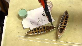 Model boats for the USS Constitution;  Part 4