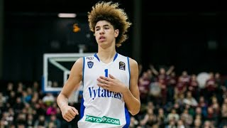 Lamelo Ball and LiAngelo First Pro Game! Vytautas vs Lietkabelis Highlights!