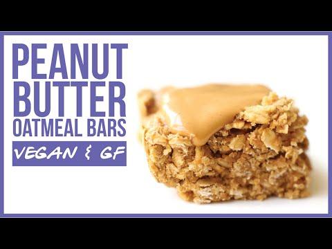 Peanut Butter Oatmeal Bars // vegan, gluten-free, healthy