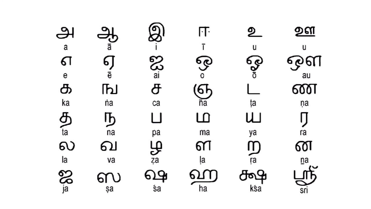 How to write Tamil alphabets