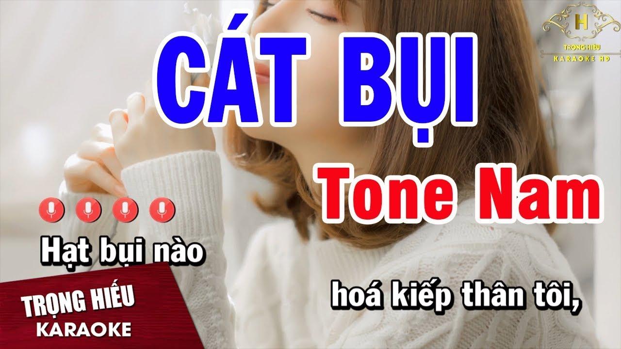 Karaoke Cát Bụi Tone Nam Nhạc Sống | Trọng Hiếu