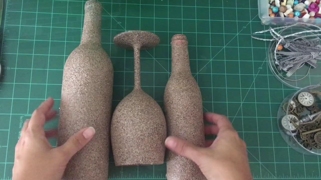 Manualidades Con Botellas De Vidriodecoracion Y Pintura Youtube - Vidrio-decoracion