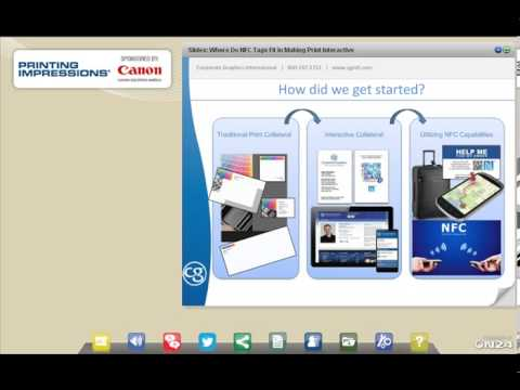 NFC Tags & Interactive Print Webinar - Sponsored by Canon Solutions America