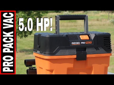 RIDGID PRO PAC 5.0 HP WET/DRY SHOP VAC- TOOL REVIEW WD45522