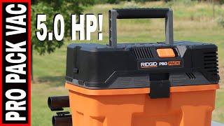 RIDGID PRO PAC 5.0 HP WET/DRY SHOP VAC- TOOL REVIEW WD45522