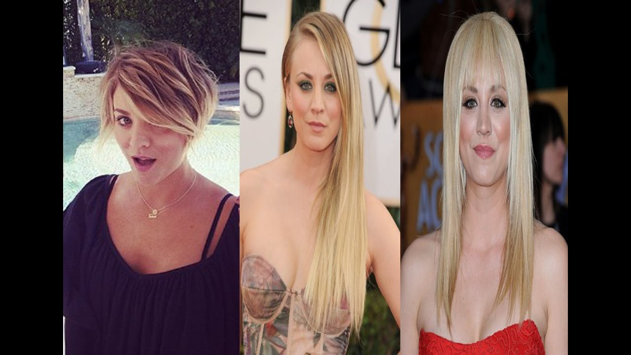 Kaley Cuoco Haircut Styles 2016 Celebrity News Youtube