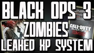 """Black Ops 3 Zombies"" Leaked Information! NEW XP Ranking Up System and Storyline"