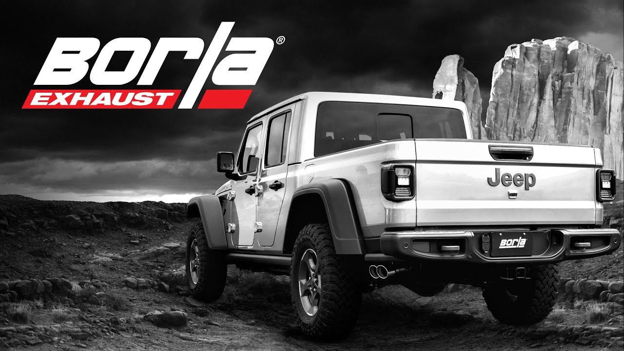 3 Borla Exhausts for 2020 Jeep Gladiator! [Exhaust Sound Comparison]